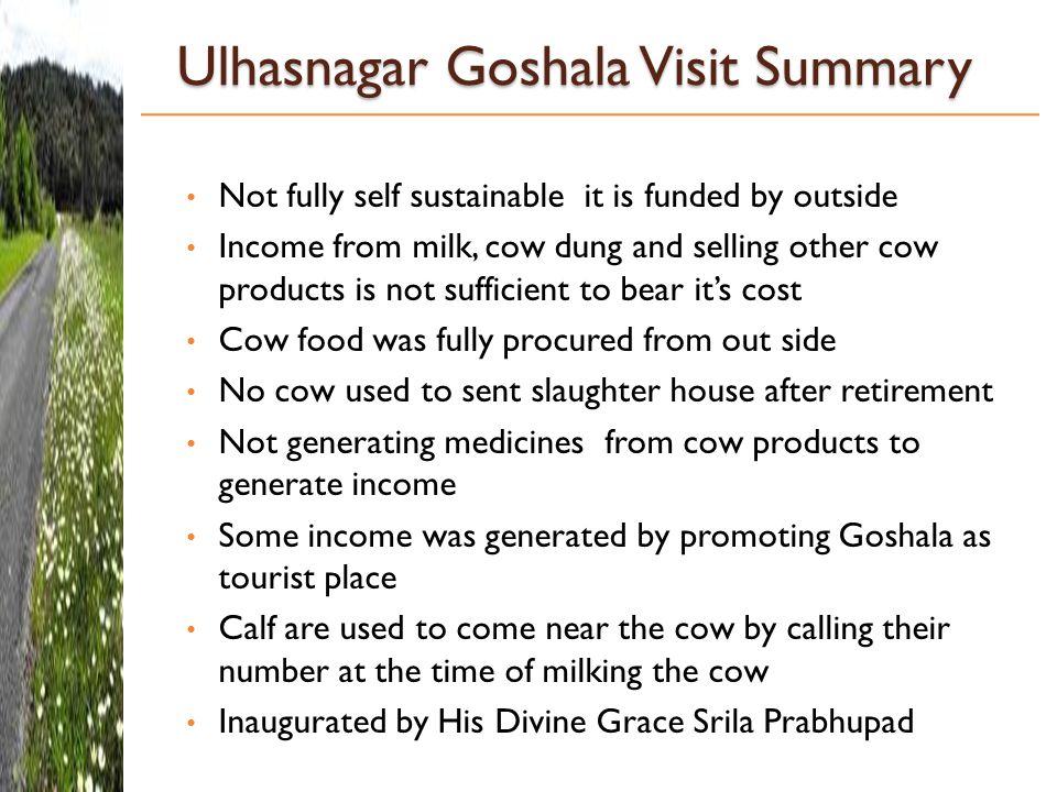 Ulhasnagar Goshala Visit Summary