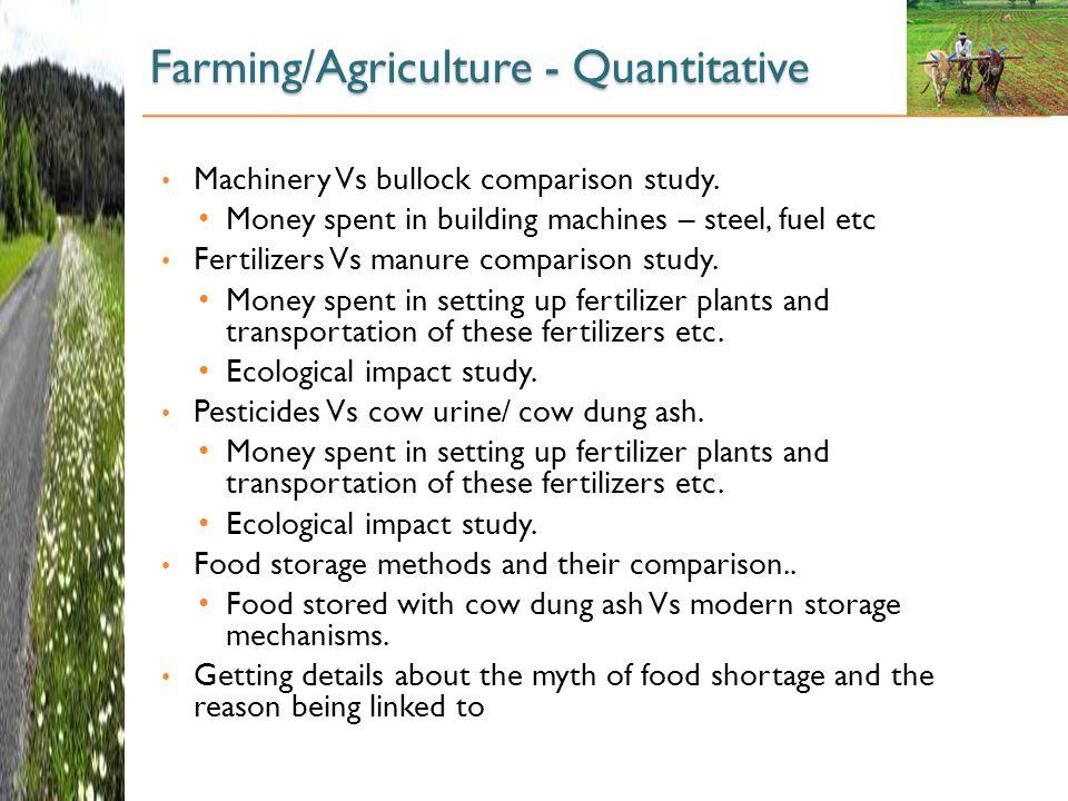 Farming/Agriculture - Quantitative