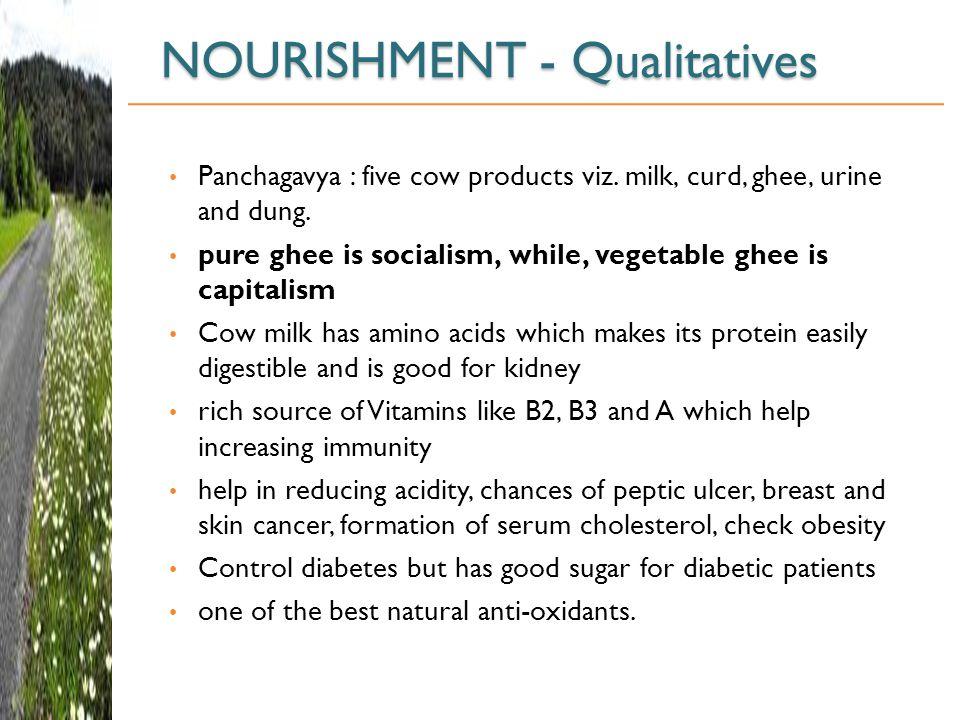 NOURISHMENT - Qualitatives