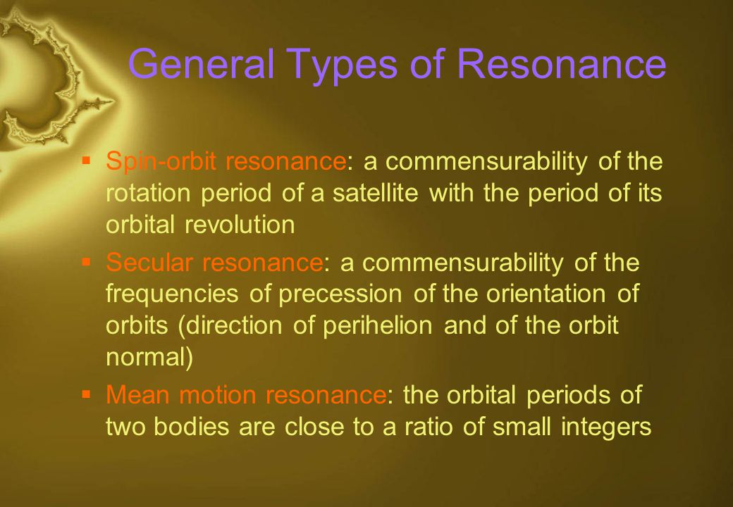 General Types of Resonance