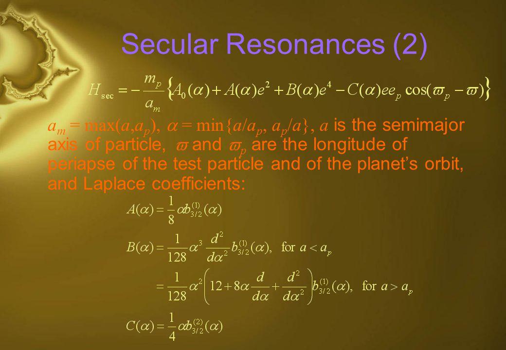 Secular Resonances (2)