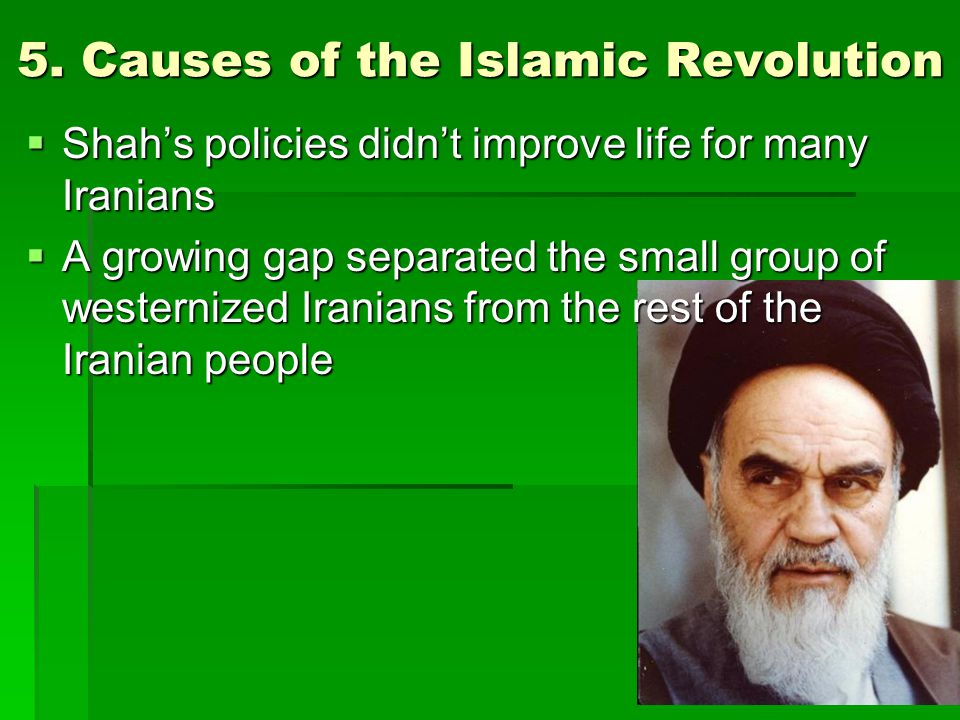 5. Causes of the Islamic Revolution