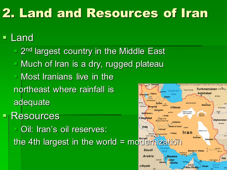 2. Land and Resources of Iran