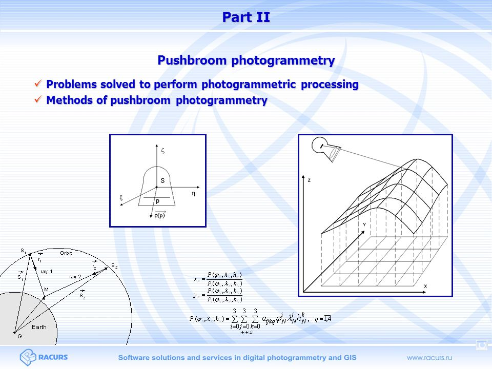Pushbroom photogrammetry