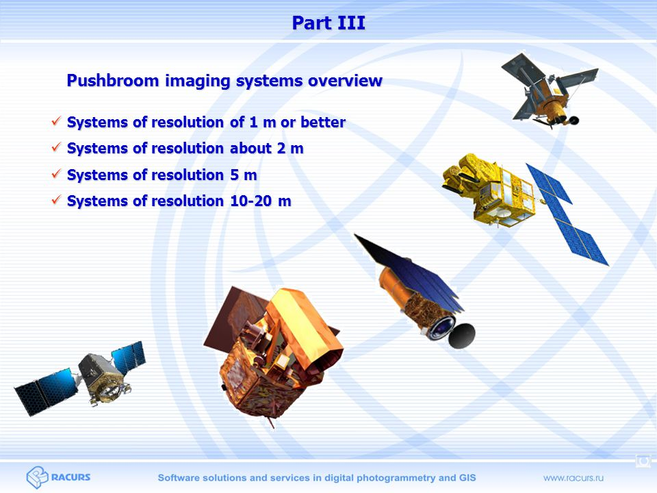 Pushbroom imaging systems overview