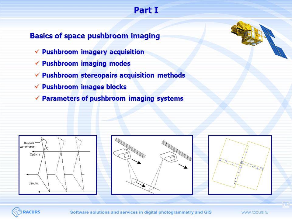 Part I Basics of space pushbroom imaging Pushbroom imagery acquisition