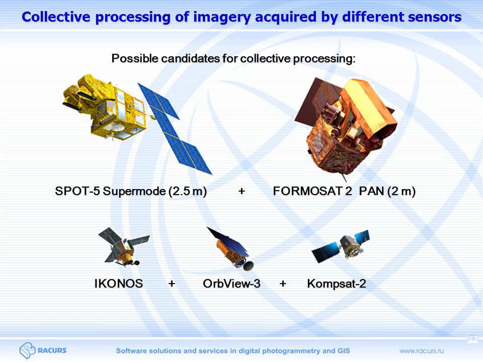 Collective processing of imagery acquired by different sensors
