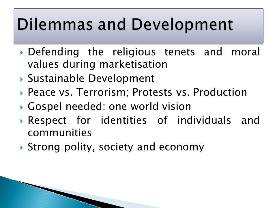 Dilemmas and Development