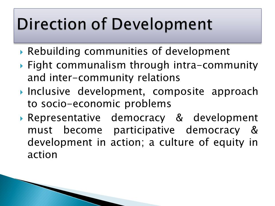 Direction of Development