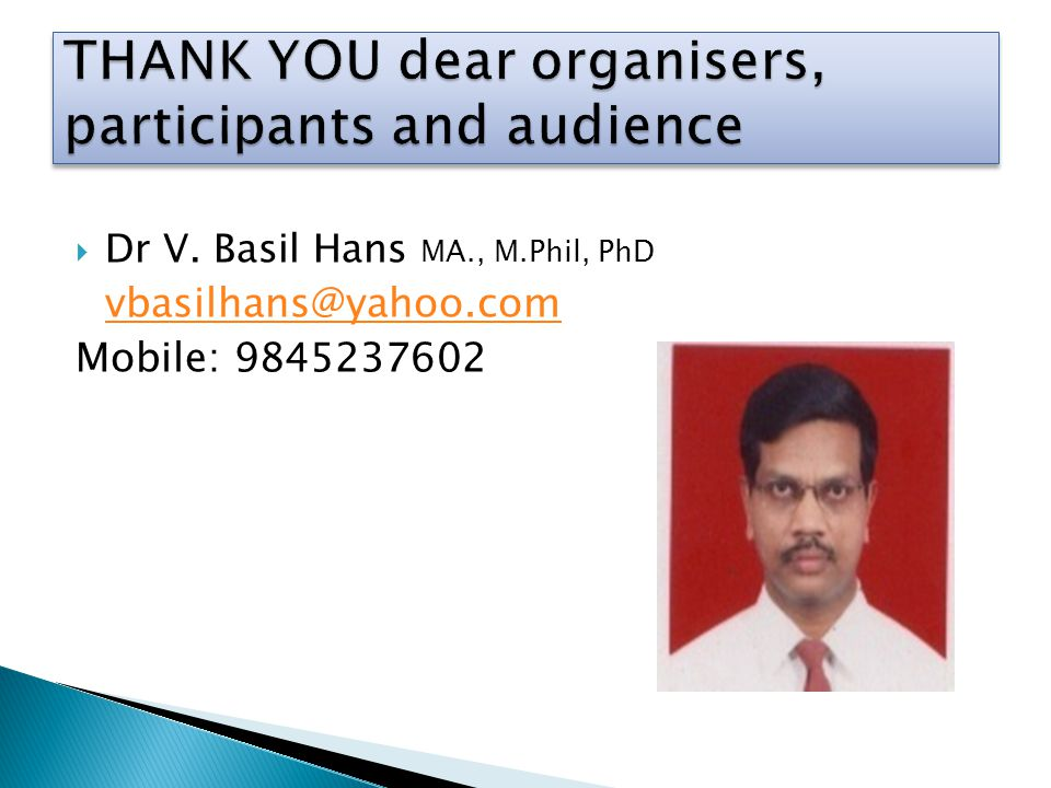 THANK YOU dear organisers, participants and audience