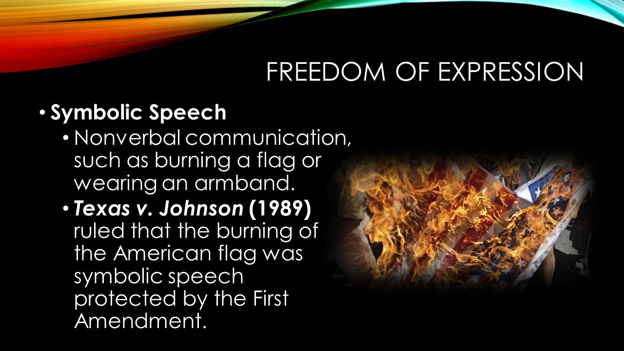 Freedom of Expression Symbolic Speech