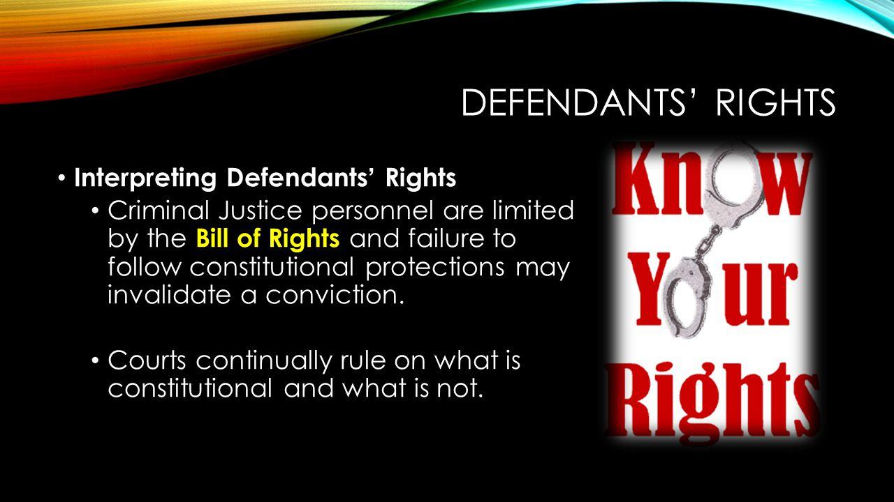 Defendants' Rights Interpreting Defendants' Rights