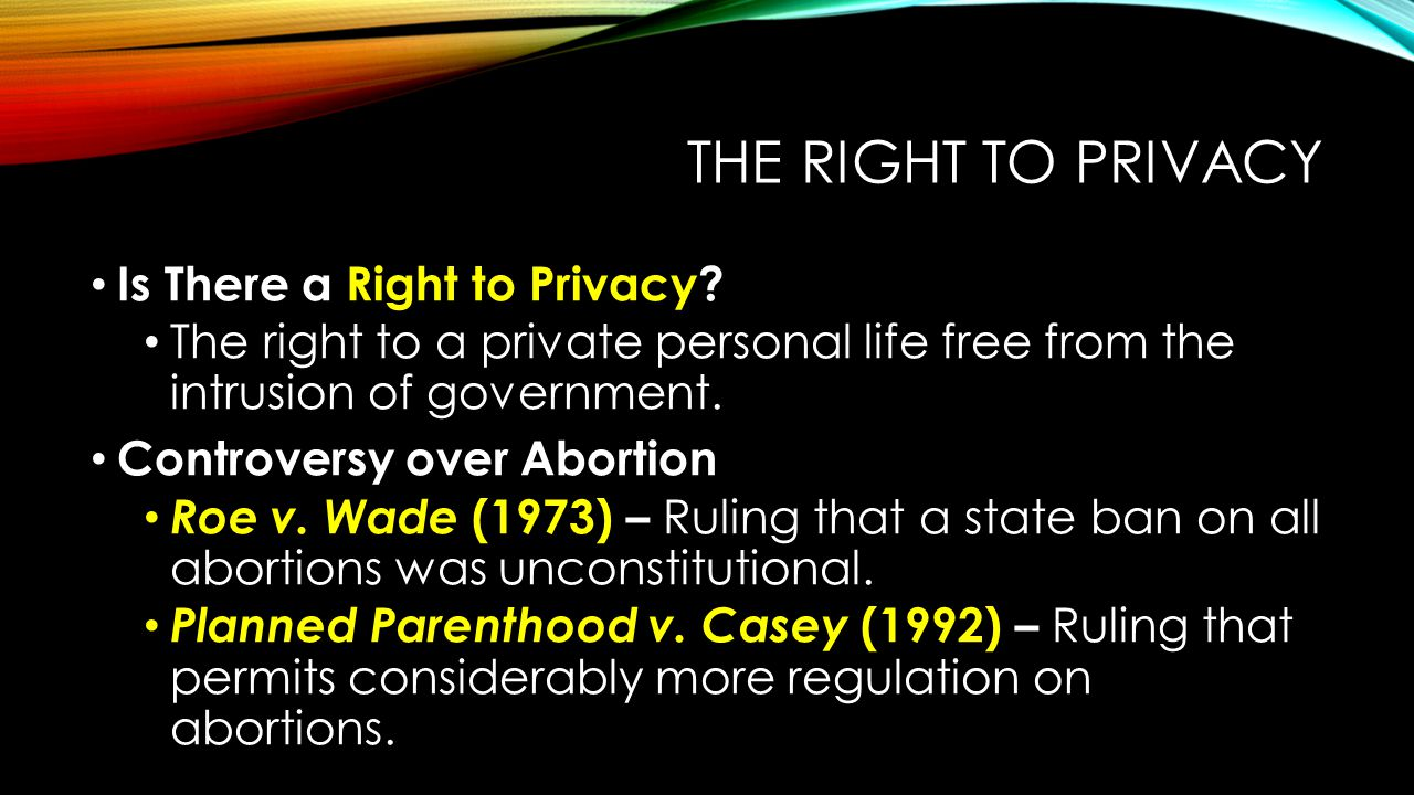 The Right to Privacy Is There a Right to Privacy