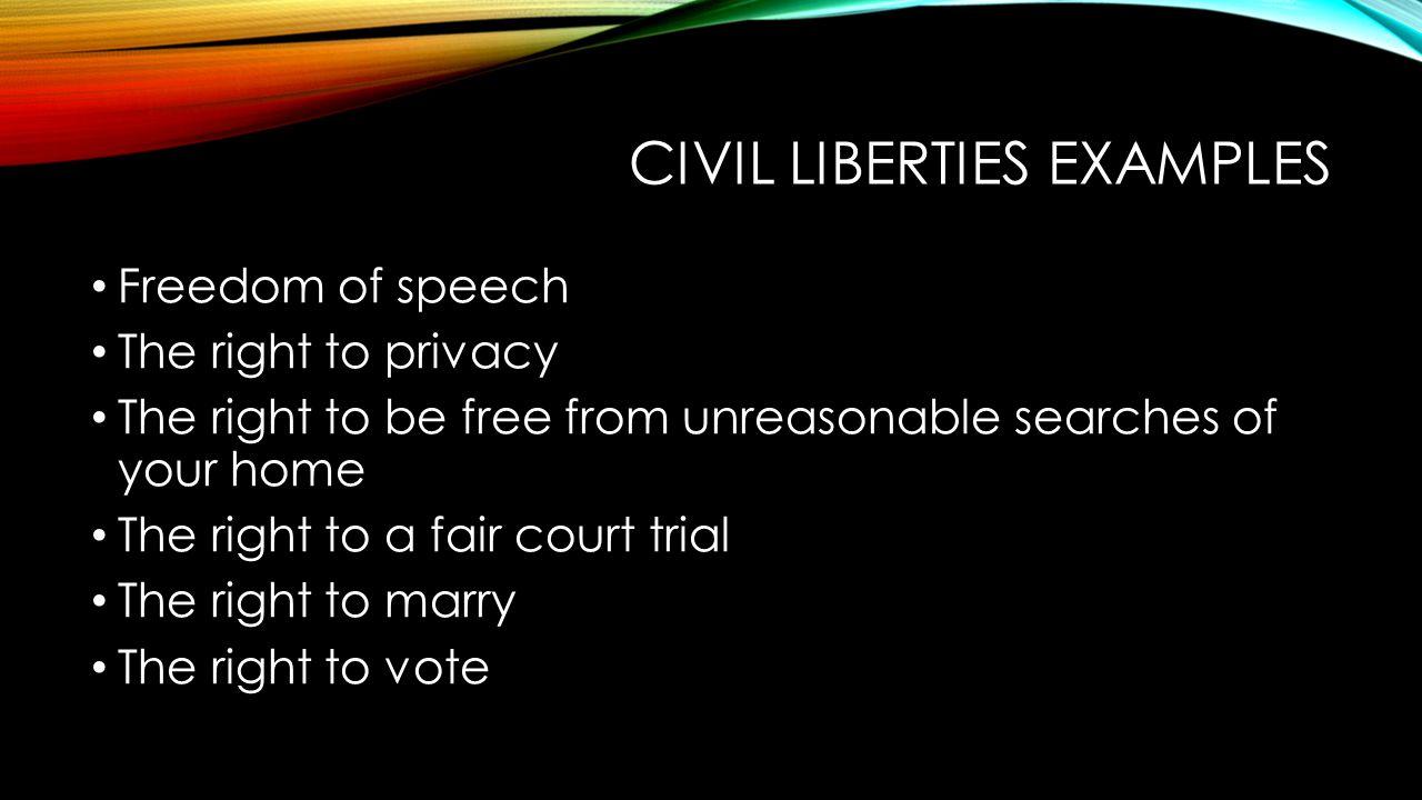 Civil Liberties Examples