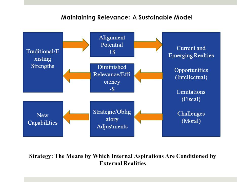 Maintaining Relevance: A Sustainable Model