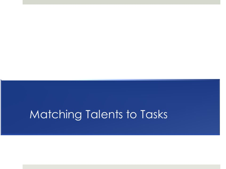 Matching Talents to Tasks