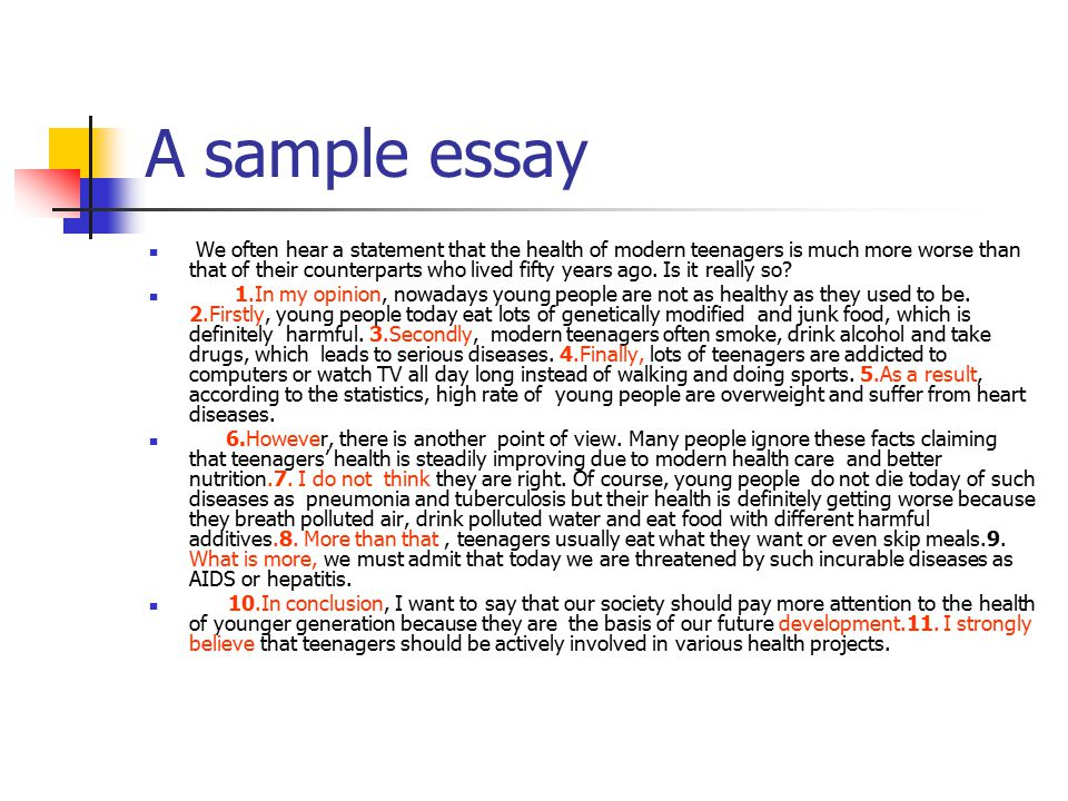 A sample essay