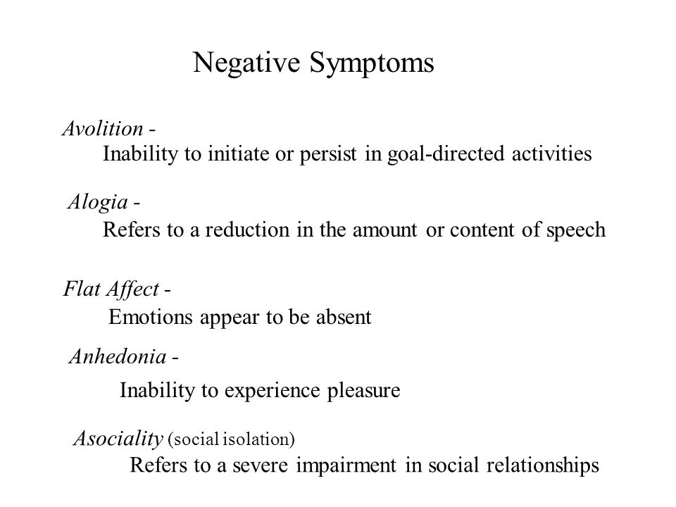 Negative Symptoms Avolition -