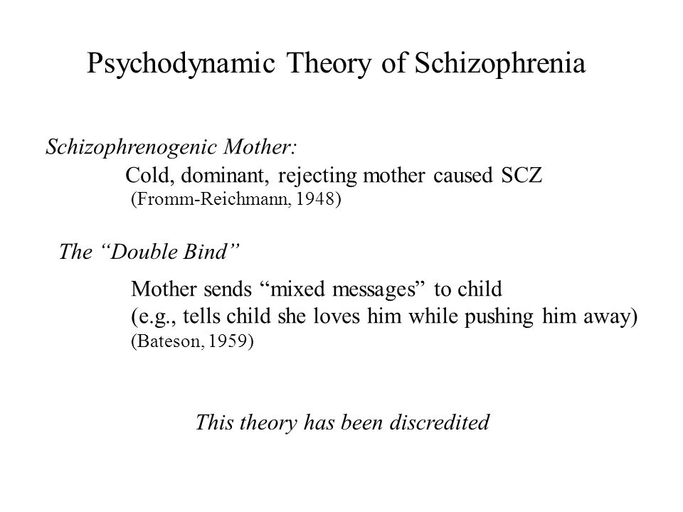 Psychodynamic Theory of Schizophrenia