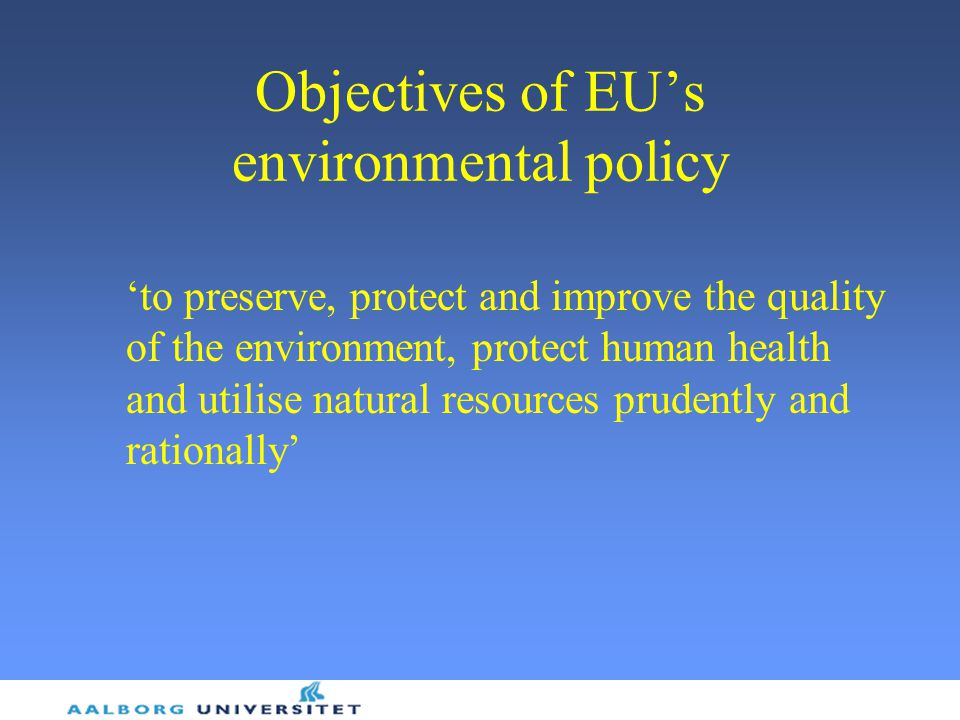 Objectives of EU's environmental policy
