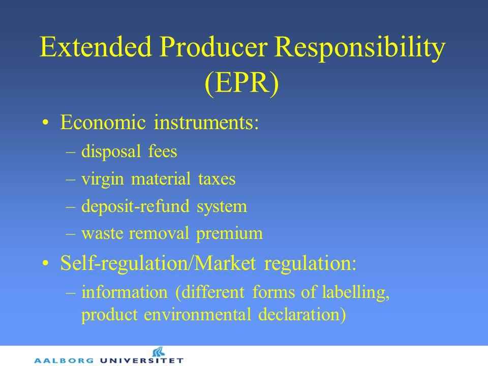 Extended Producer Responsibility (EPR)