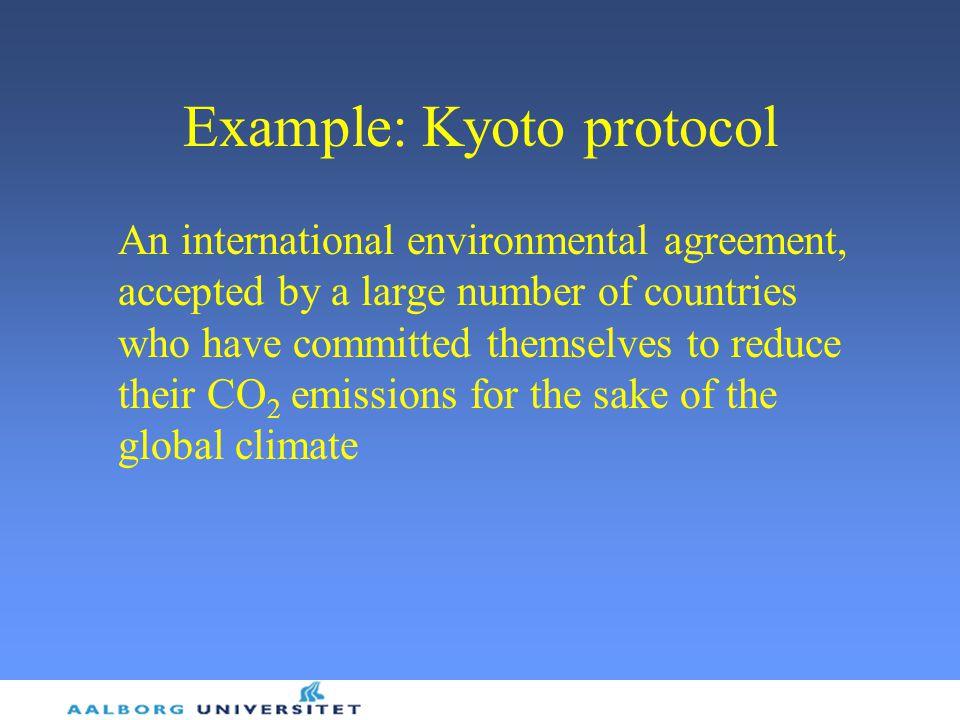 Example: Kyoto protocol