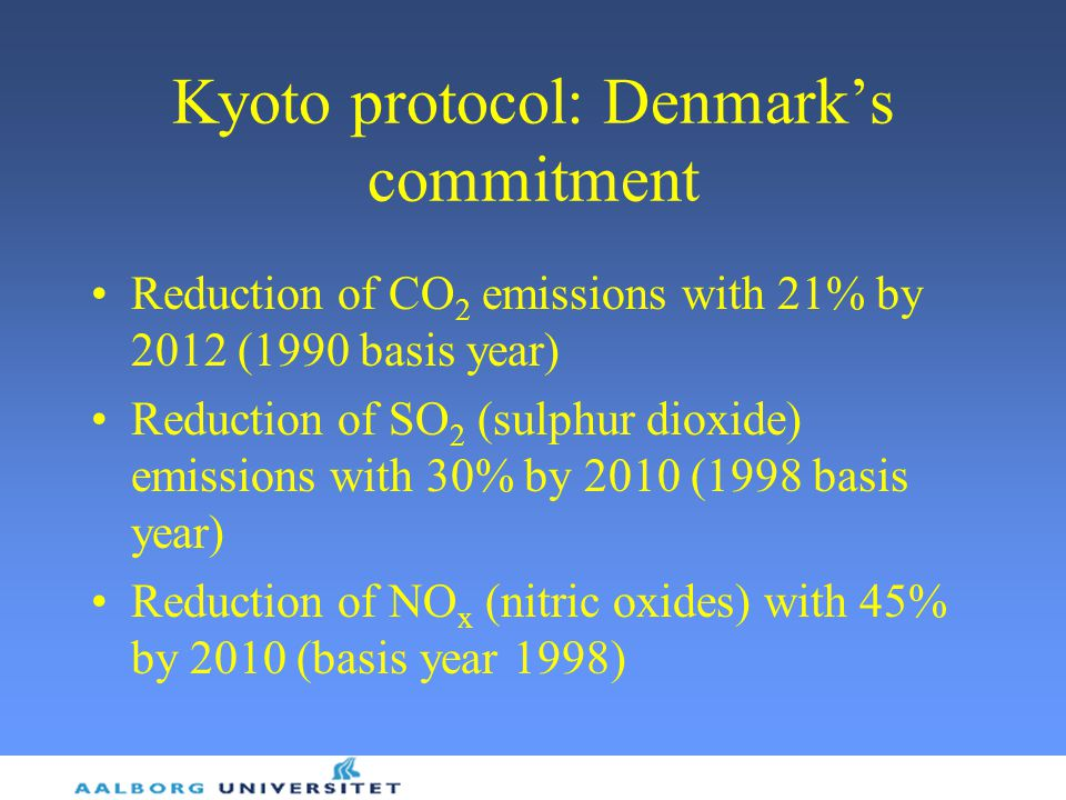 Kyoto protocol: Denmark's commitment