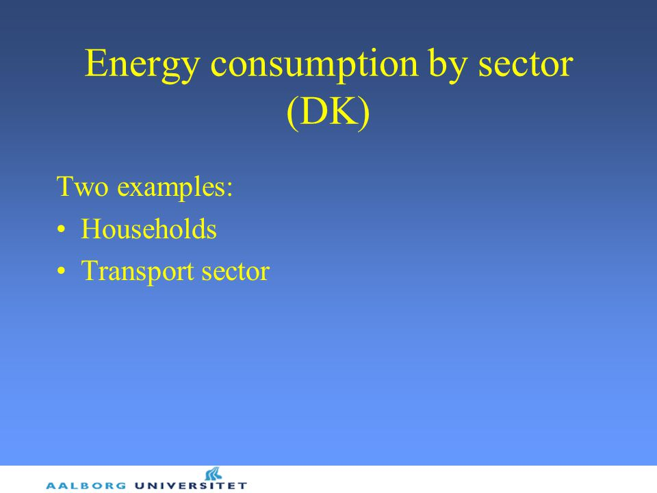 Energy consumption by sector (DK)