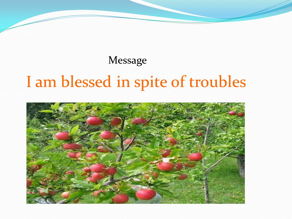 I am blessed in spite of troubles