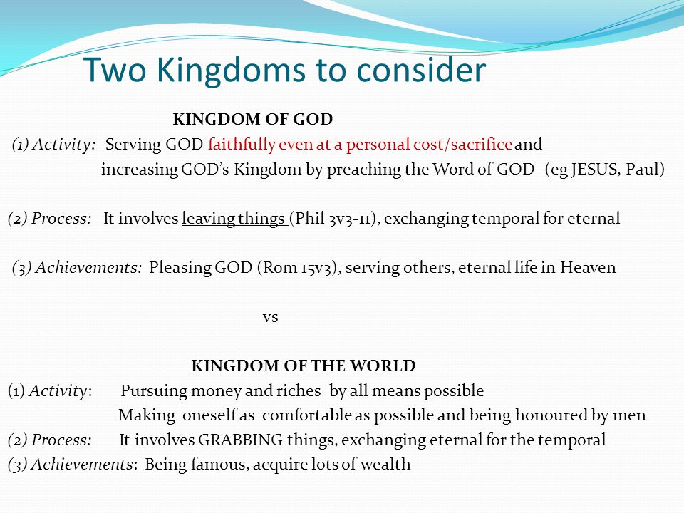 Two Kingdoms to consider