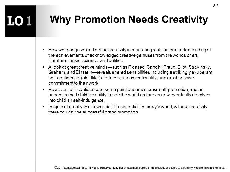 Why Promotion Needs Creativity