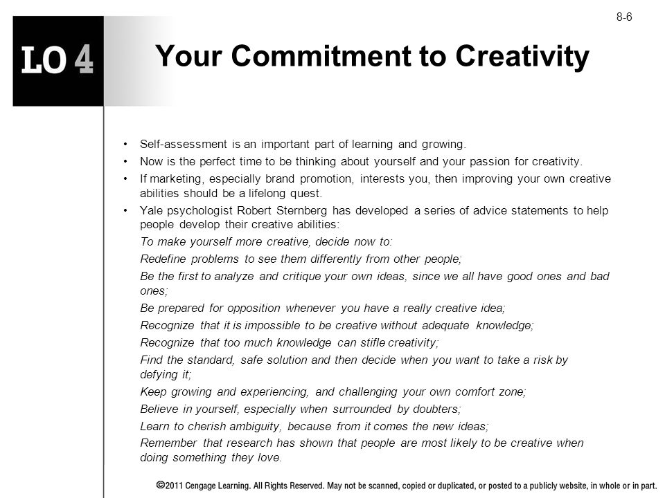 Your Commitment to Creativity