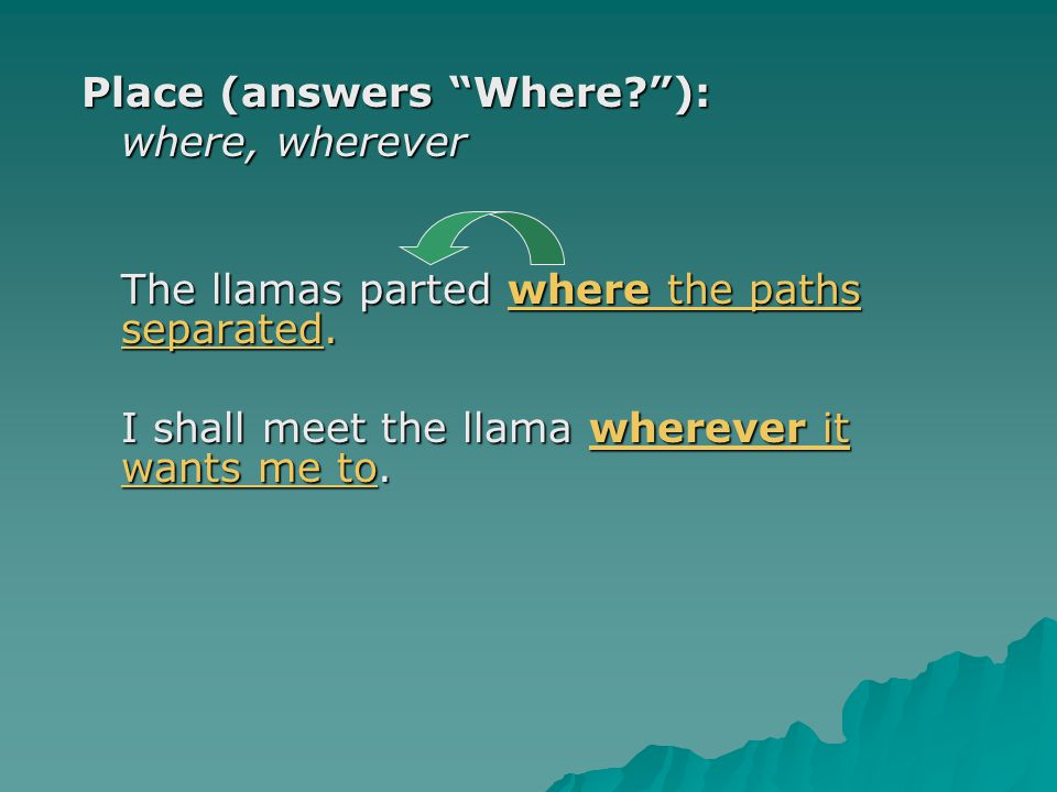 Place (answers Where ):