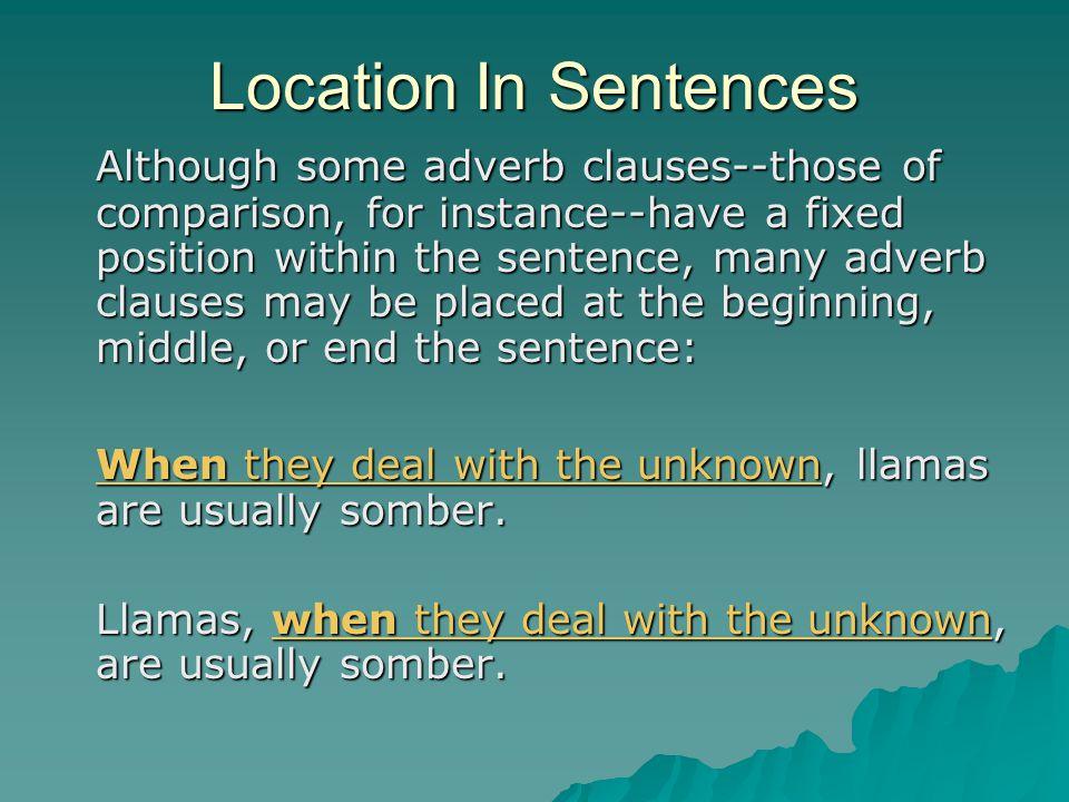 Location In Sentences