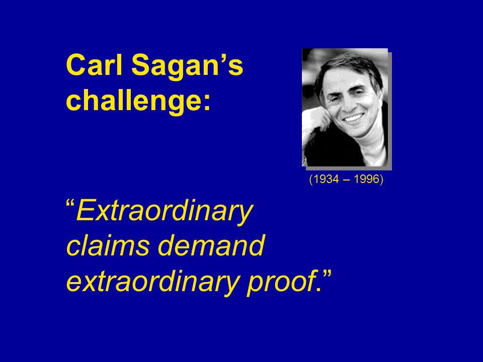 Carl Sagan's challenge: