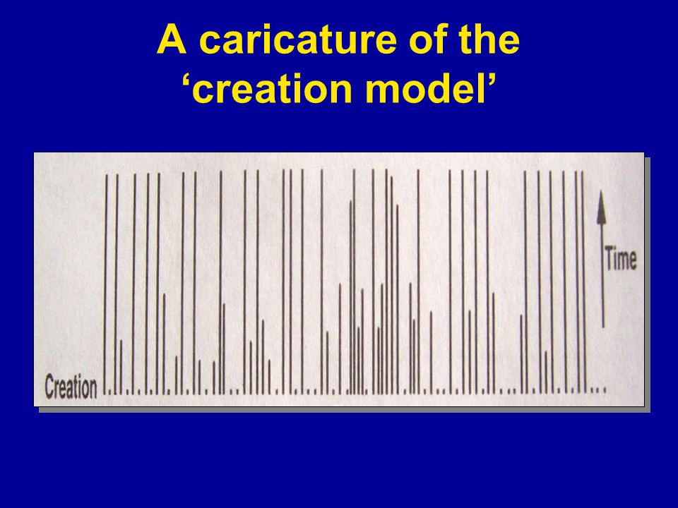 A caricature of the 'creation model'