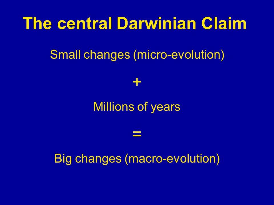 The central Darwinian Claim