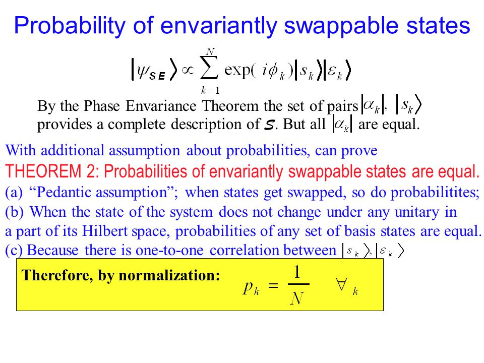 Probability of envariantly swappable states