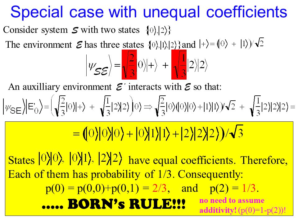 Special case with unequal coefficients
