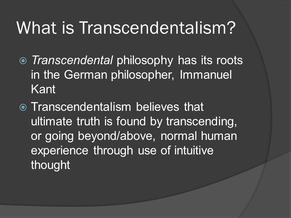 What is Transcendentalism