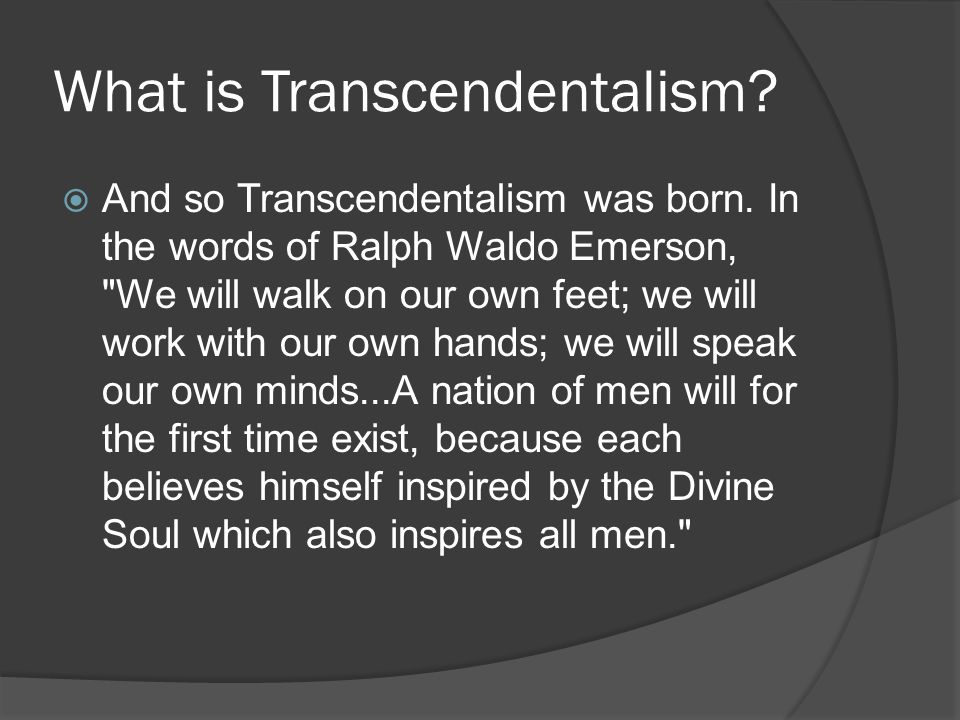 Transcendentalism Questions and Answers