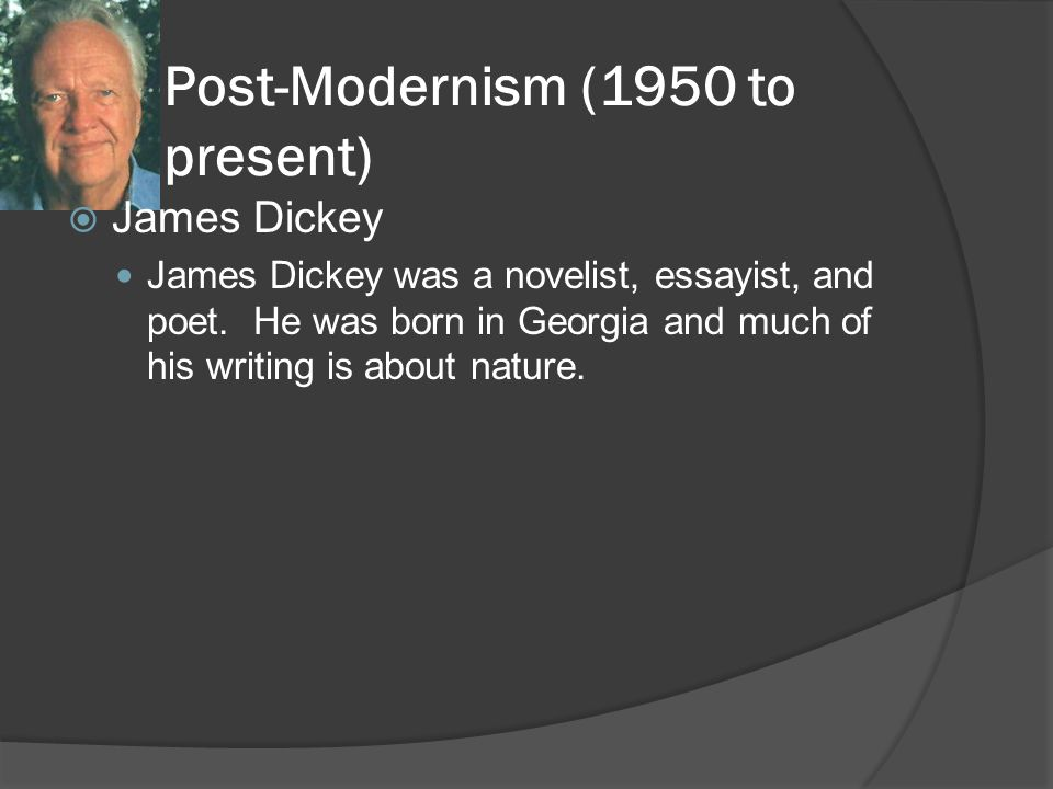 Post-Modernism (1950 to present)