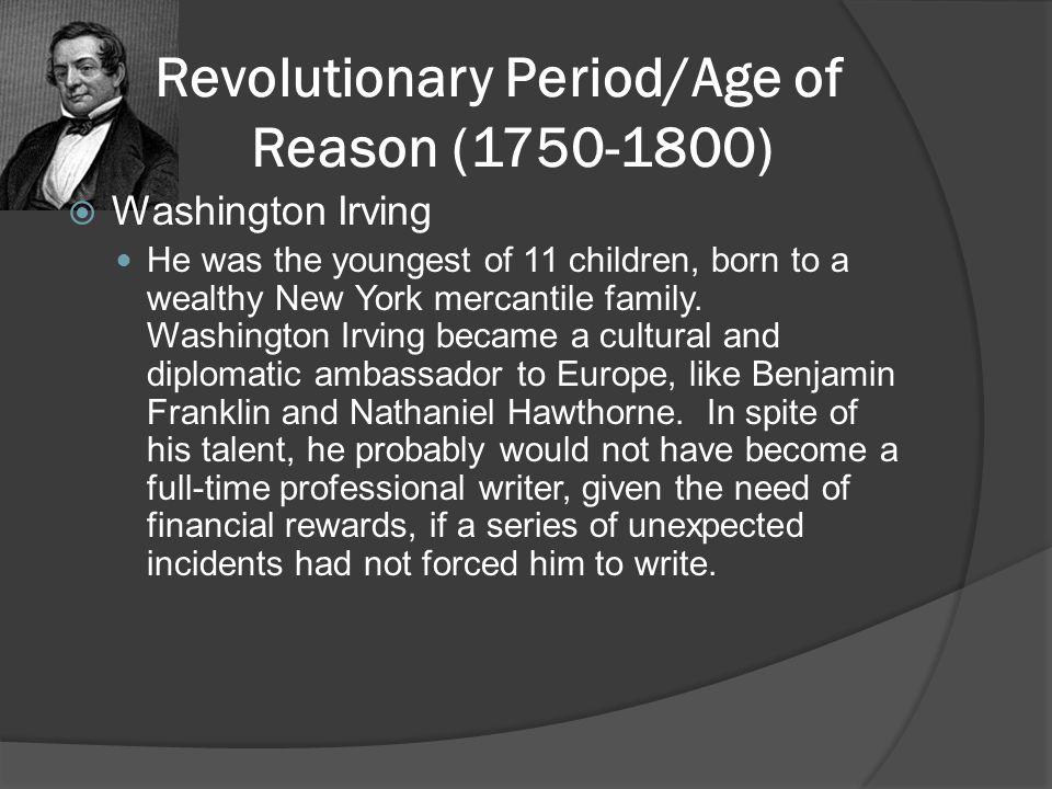 Revolutionary Period/Age of Reason (1750-1800)