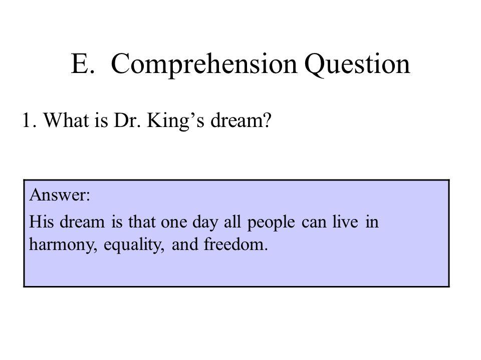 E. Comprehension Question