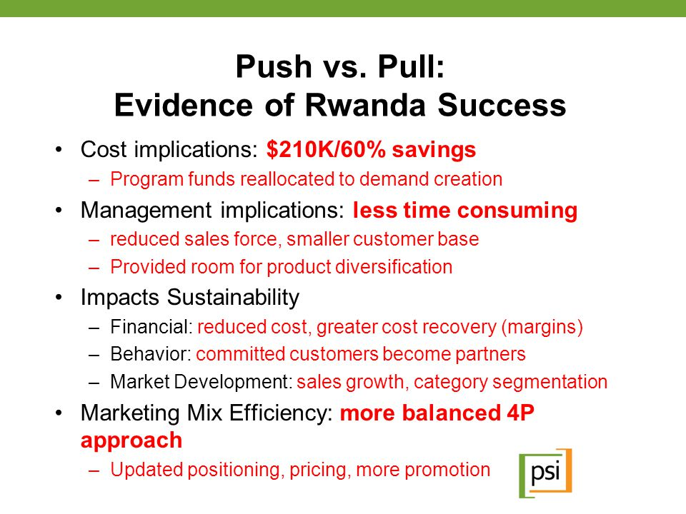 Push vs. Pull: Evidence of Rwanda Success