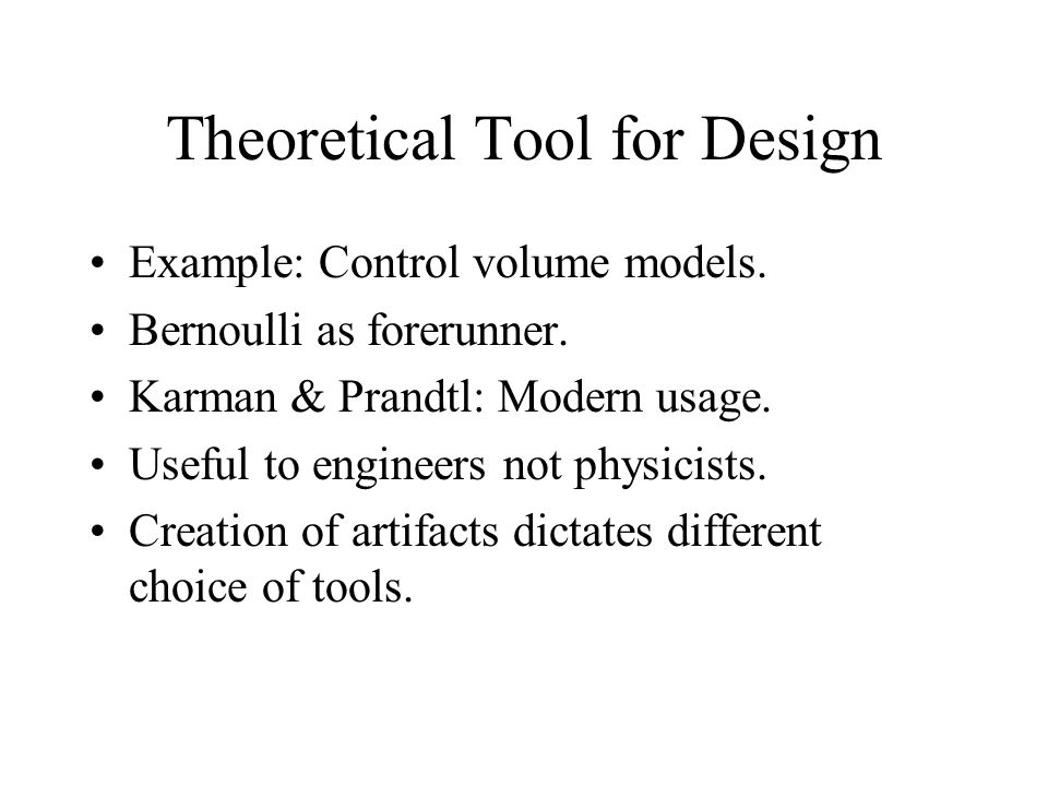 Theoretical Tool for Design
