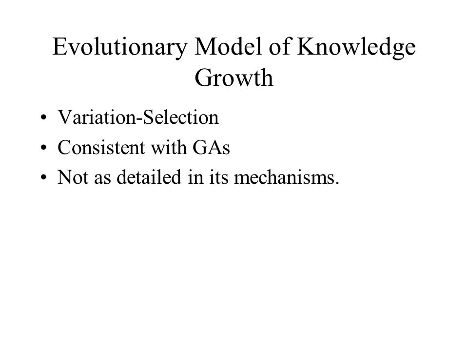 Evolutionary Model of Knowledge Growth