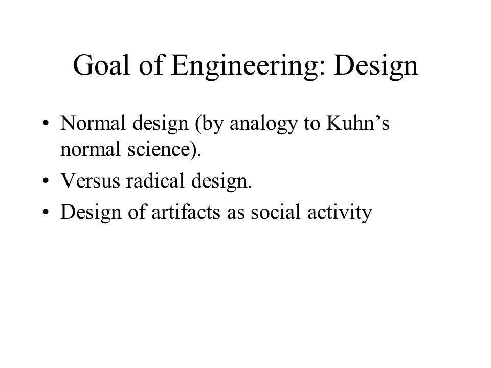 Goal of Engineering: Design