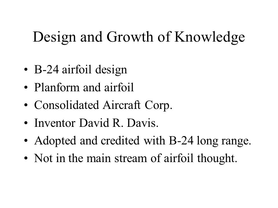 Design and Growth of Knowledge