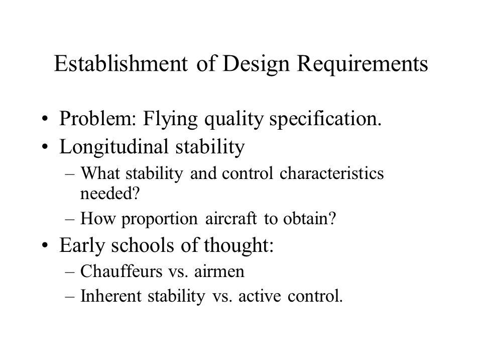 Establishment of Design Requirements